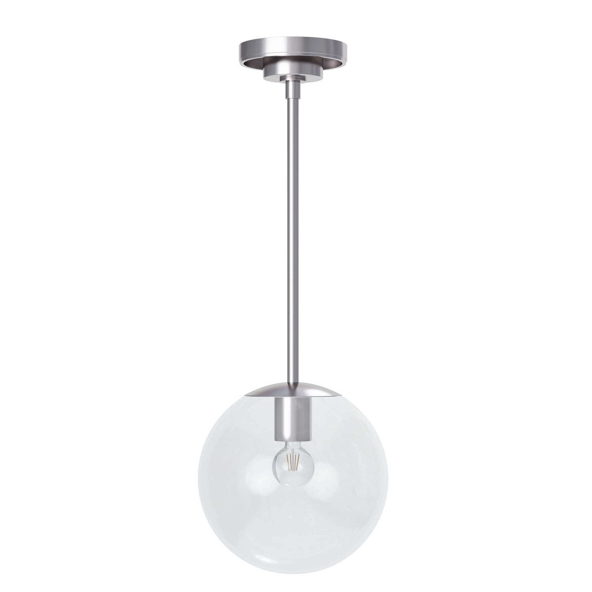 Cafe Pendant Polished Nickel Extra Small For Sale