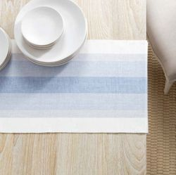 Cafe Stripe Table Runner - Lavender With Napkin Option