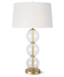 Camilla Glass Table Lamp <font color=a8bb35> NEW</font>