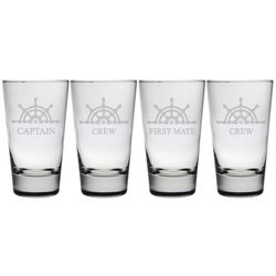 Captain & Crew Heavy Base Glass - Set of 4 *NEW