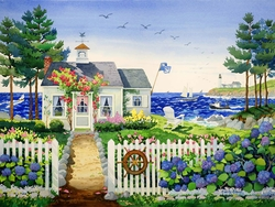 Captain's Cottage  Beach Print