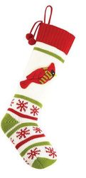 Cardinal Knit Christmas Stocking<font color =a8bb35> Sold out</font>