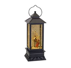 Cardinal Traditions Lantern Snow Globe with Birdhouse and Sled