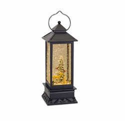 Cardinal Traditions Lantern Snow Globe with Tree and Animals