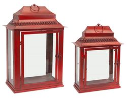 Cardinal Traditions Red Lantern Set of 2