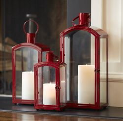 Cardinal Traditions Red Lantern Set of 3  *Out of Stock