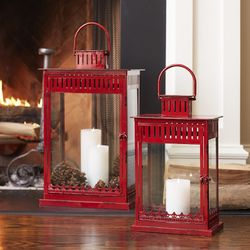 Cardinal Traditions Tall Red Lantern Set of 2