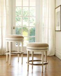 Backless Carmel Swivel Counter or Bar Stool