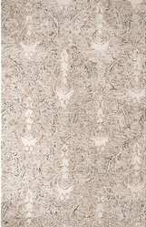 Carrera Damask Hand Tufted Rug <font color=a8bb35> NEW</font>