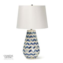 Cassia Chevron Table Lamp - Blue *NEW*