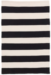 Catamaran Stripe Black/Ivory  Indoor/Outdoor Rug