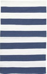 Catamaran Stripe Denim+White Indoor/Outdoor Rug