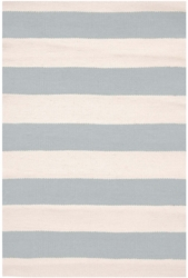 Catamaran Stripe Light Blue/Ivory Indoor/Outdoor Rug