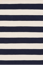 Catamaran Stripe Navy and Ivory Indoor/Outdoor Rug