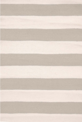 Catamaran Stripe Platinum/Ivory Indoor/Outdoor Rug