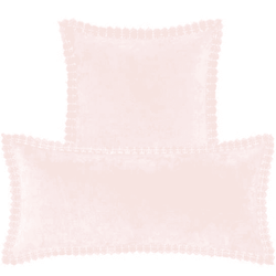 Celeste Velvet Slipper Pink Decorative Pillow