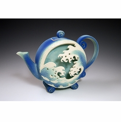 Ceramic Wave Box Teapot
