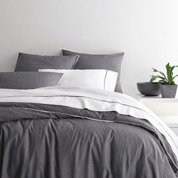 Chambray Grey Duvet Cover