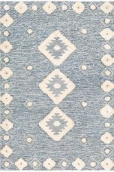 Cherokee Navy Hand Tufted Rug <font color=a8bb35> NEW</font>