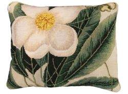 Cherokee Rose Needlepoint Pillow