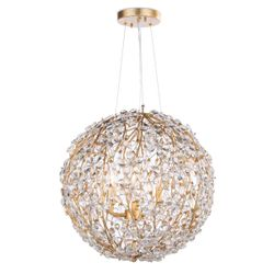 Cheshire Gold Leaf Chandelier Small <font color=a8bb35>NEW</font>