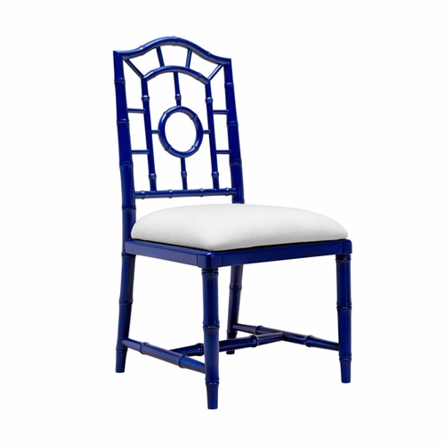 Chloe Lacquered Side Chair in Blue *Backorder