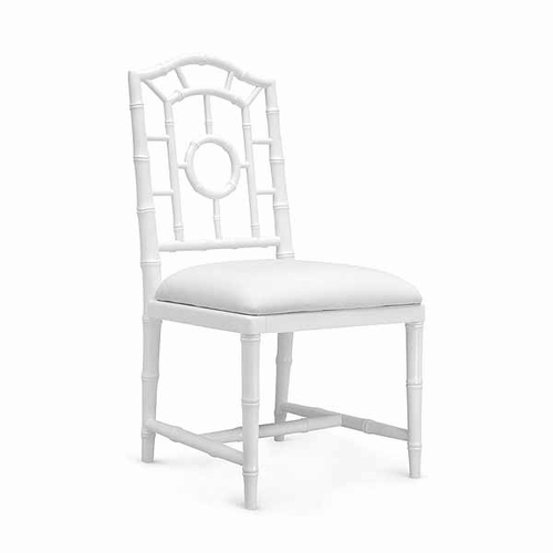 Chloe Lacquered Side Chair in White *Backorder