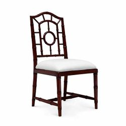 Chloe Lacquered Side Chair - Walnut