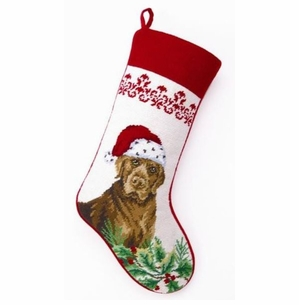 Chocolate Lab Christmas Stocking<font color =a8bb35> Sold out</font>