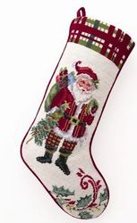 Christmas at North Pole Santa Stocking<font color =a8bb35> Sold out</font>