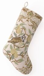 Christmas Bird Christmas Stocking<font color =a8bb35> Sold out</font>