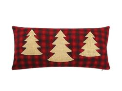 Christmas Trees on Red Plaid Pillow *NEW