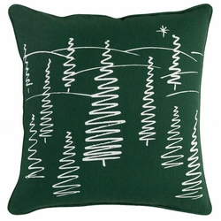 Christmas Trees Pillow Green