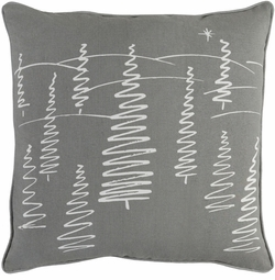 Christmas Trees Pillow Grey