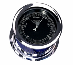 Chrome Plated Atlantis Premiere Barometer, Black Dial/ White Scale *NEW