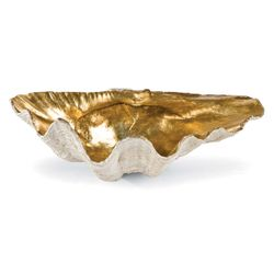 Clam Bowl with Antique Gold Interior in Two sizes