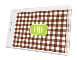 Classic Check Chocolate Lucile Tray in Three Sizes
