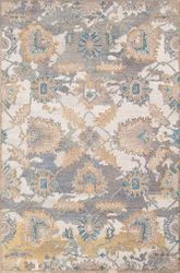 Classic Nouveau Medium Gray Hand Tufted Rug  <font color=a8bb35> NEW</font>