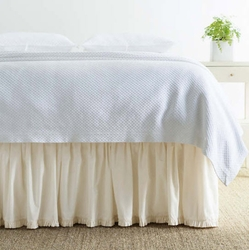 Classic Ruffle Gathered Ivory Bed Skirt