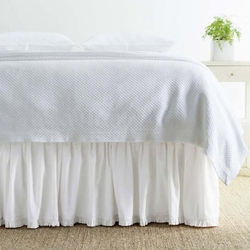 Classic Ruffle Gathered White Bed Skirt