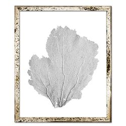 Classic Sea Fan Beach Wall Art - Metallic Silver