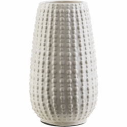 Clearwater Tall Ceramic Vase in White