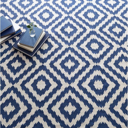 Clover Blue Cotton Woven Rug *Sold out