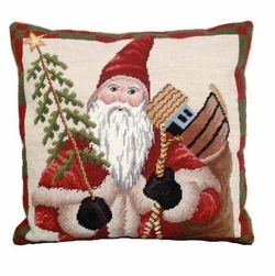 Colonial Santa Christmas Pillow
