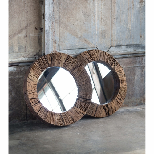 Concave Reclaimed Wood Mirror *Backorder