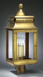 Concord Large Three-Light Fixture for Post <font color=a8bb25> Sold Out</font>