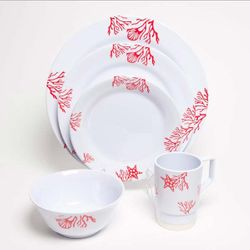 Coral Melamine Dinnerware Collection with Platter