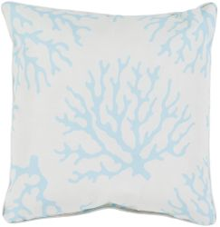Coral Outdoor Pillow in Aqua