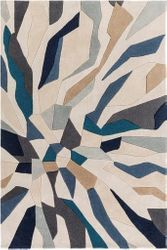 Cosmopolitan Bright Blue Hand Tufted Rug   <font color=a8bb35> NEW</font>