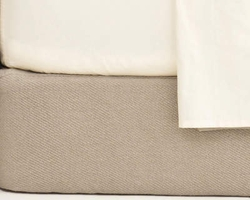 Cotton Twill Box Spring Cover in Oatmeal